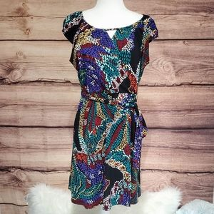 Laundry By Design Multi Color Wrap Dress Sz M